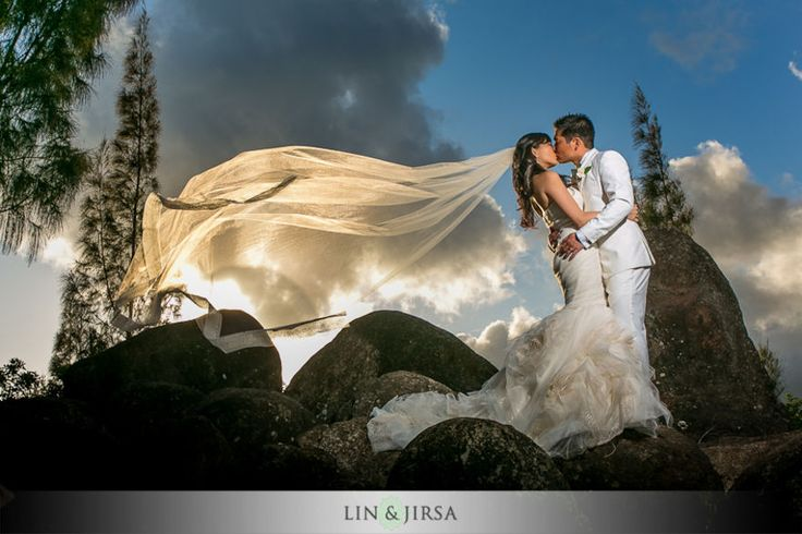 Beautiful flowing veil in the sky. Lin and Jirsa Photography   Orange County Wedding Photographer   SnapKnot
