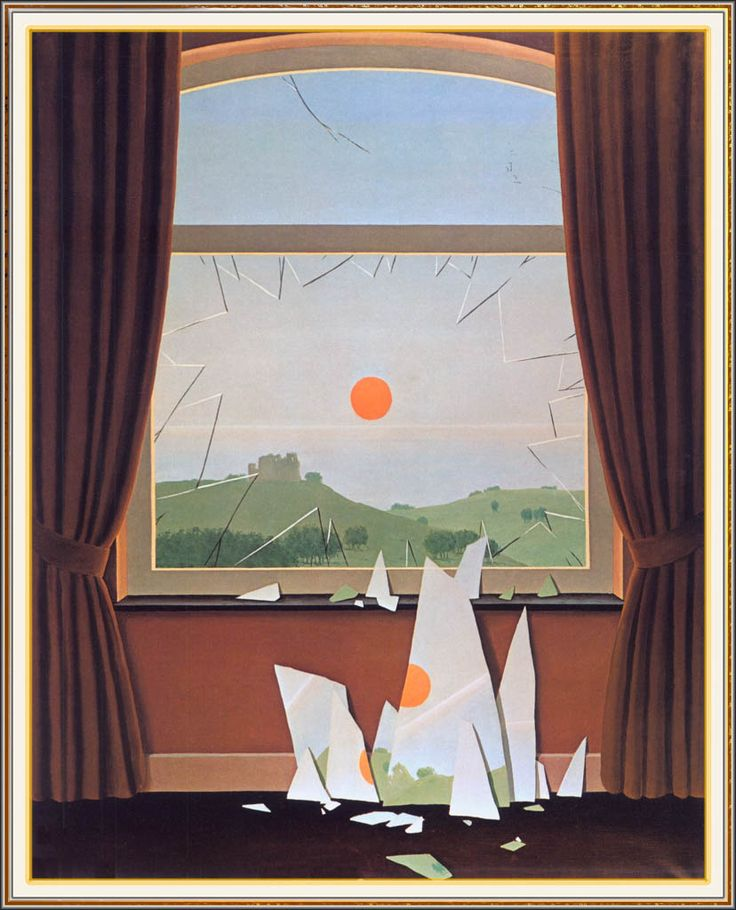 Rene Magritte - Evening Falls II (Le Soir qui tombe) 1964