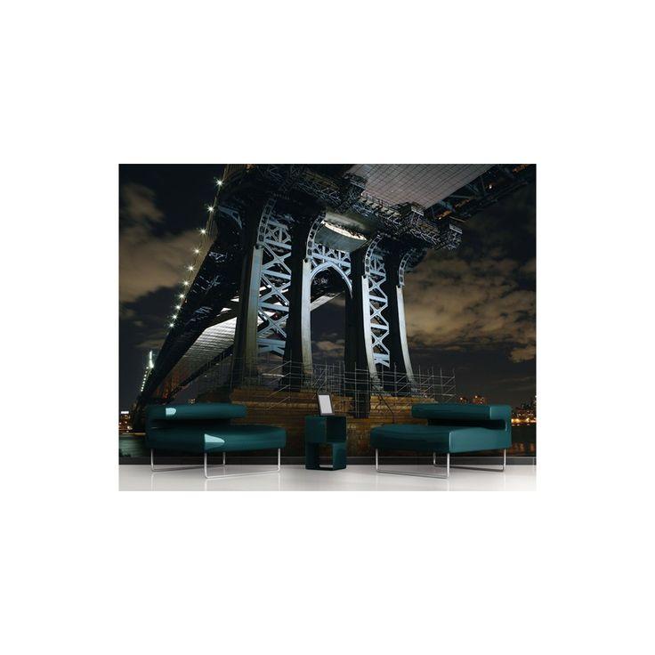New York hídja. Monumentális, erőt sugárzó óriás poszter tapéta 400x280cm nagyságban. Ez nagyon komoly!