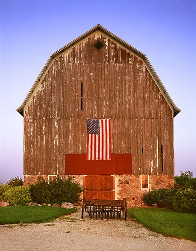 Old Patriot Barn...with flag