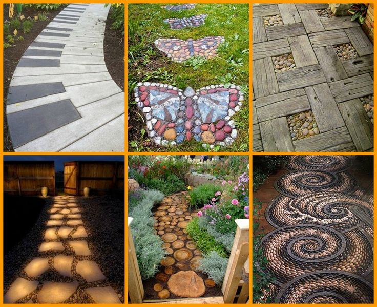 #8 Is Beautiful And Easy To Make! Find A Garden Path For Your Backyard