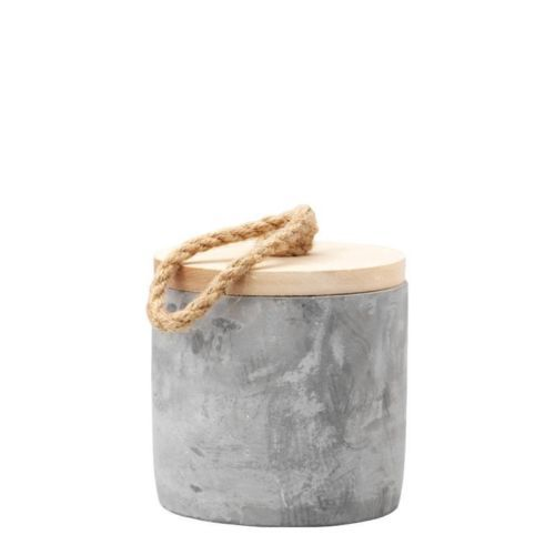 Cement-Storage-Jar-With-Wooden-Lid-Detail-Set-of-2-Small-and-Large. For more information Please take a moment to visit our website : https://www.sojandco.com/collections/all