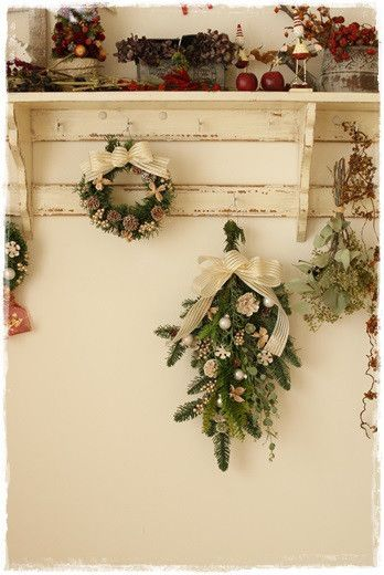 【クリスマス】モミのスワッグつくりました の画像|Flower noteの フラワーギフト&レッスン(横浜・上大岡)