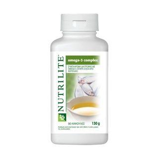 NUTRILITE™ Omega-3 ComplexΈνα συμπλήρωμα διατροφής με ιχθυέλαιο που περιέχει ωμέγα-3 λιπαρά οξέα. Τα ψάρια που συλλέγονται από τα βαθιά, κρύα νερά του Ατλαντικού Ωκεανού είναι πλούσια σε ένα είδος λιπαρών οξέων, γνωστά ως ωμέγα-3 λιπαρά οξέα. Τα δύο δραστικά συστατικά του συμπλέγματος ωμέγα-3 είναι το EPA (Εικοσιπεντανοϊκό οξύ) και το DHA (Δοκοσαεξανοϊκό οξύ).