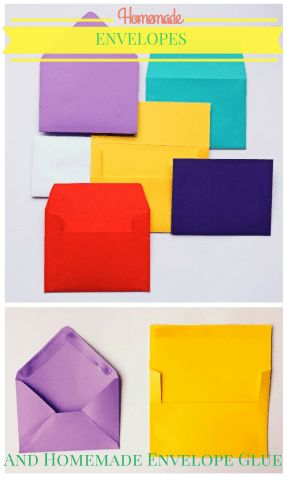 Do you need a specific size of envelope?  Instead of buying a full pack for one or two envelopes, make your own envelopes in any size.  Also includes tutorial for homemade envelope glue.