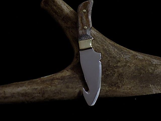 moose antler skinning knife