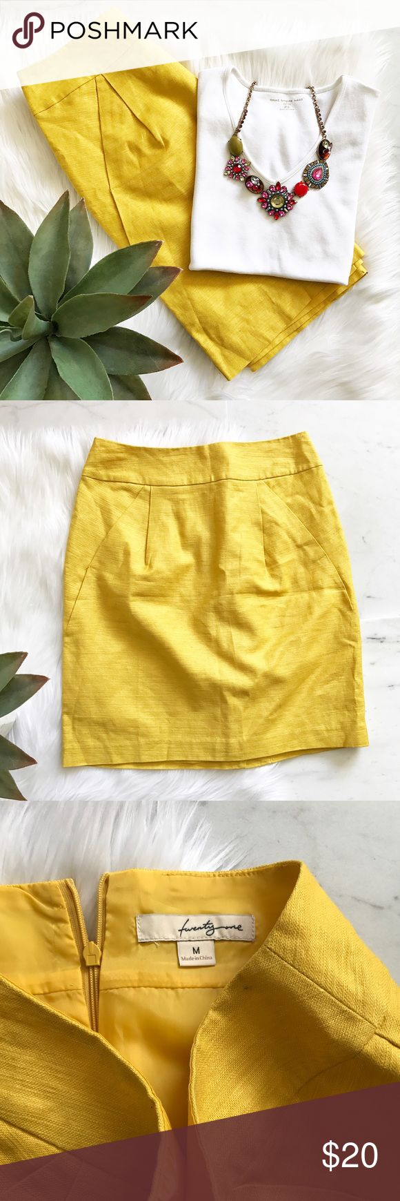 Mustard Yellow Skirt Lovely color! All listed items are from a pet & smoke free home.  Please feel make offers. I have easy access to post office so I will ship asap. Thank you so much! Forever 21 Skirts Mini