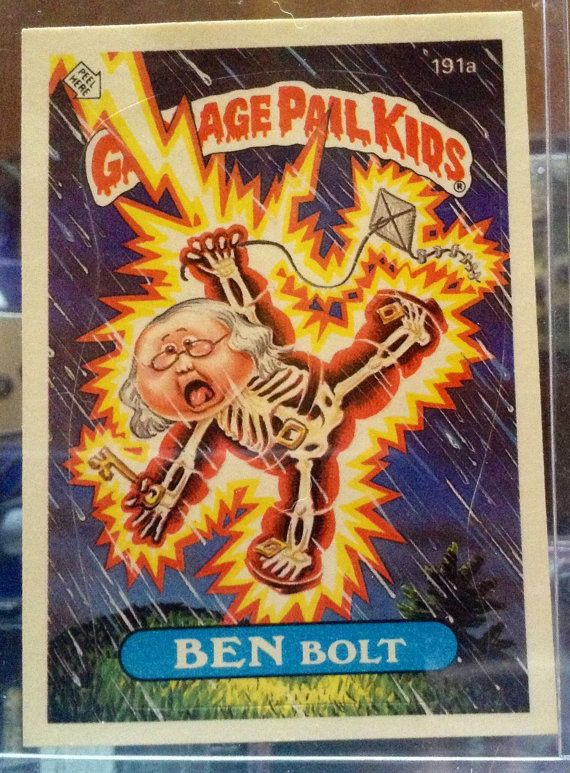 1986 Topps Garbage Pail Kids Trading Card 191a by LEATHERGLACIER, $2.00