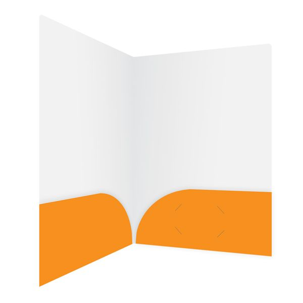 Orange Travel Agent Folder Template (Inside Right View)