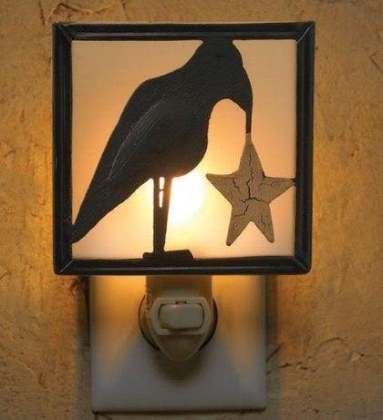 Crow And Star Night Light Night Light Crow Night Light Nightlight Crow