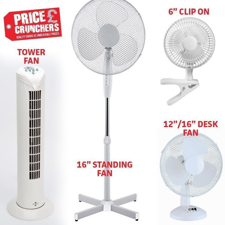 """Cooling Desk Fan and Freestanding Fans Office Home Clip Tower Table 6"""" 12"""" 16""""  #Highlands"""