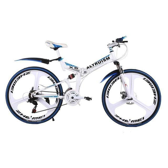 X6 Folding Bicycle | 21 Speed | Mountain Bike | 26 Inch | Aluminum Alloy Frame