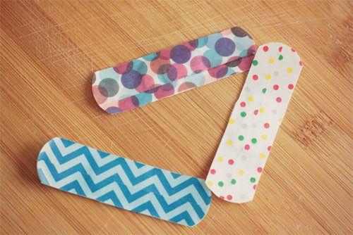 DIY Washi Tape Band-Aids for Kids