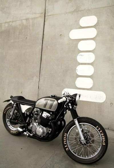 TheHalifaxJungle | Honda CB Cafe Racer. I like the numbers painted on the tank