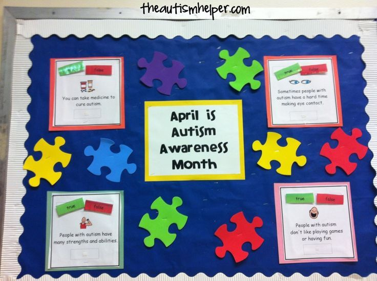 Spread Autism Awareness in YOUR School with Interactive Bulletin Boards by theautismhelper.com