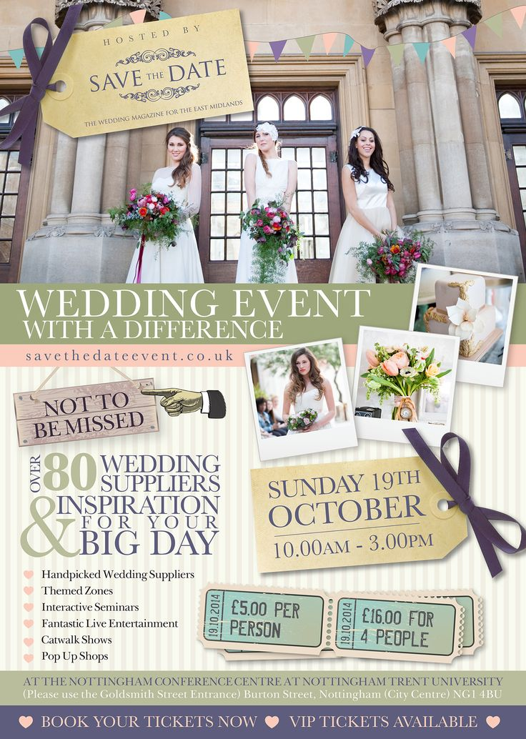 All attendees to our Open Day will be entered into a prize draw to WIN 2 FREE tickets to The Wedding Event with a Difference - Sunday 19th October 2014 www.savethedateevent.co.uk