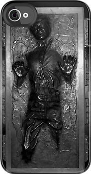 Han Solo in carbonite iphone case. This is just so freakin cool!
