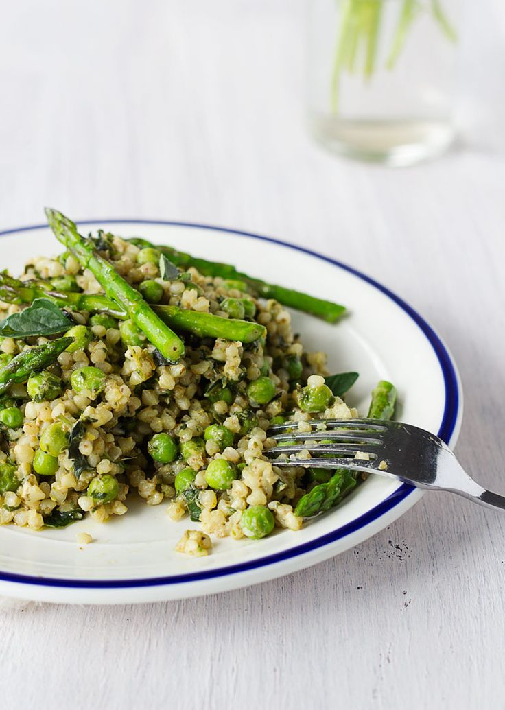 Lemon Asparagus Buckwheat Vegan Risotto