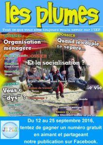 A l'occasion de la 10e édition de la JIPLI, tentez de gagner  un numéro gratuit du magazine en aimant et partageant notre  publication sur Facebook du 12 au 25 septembre 2016.