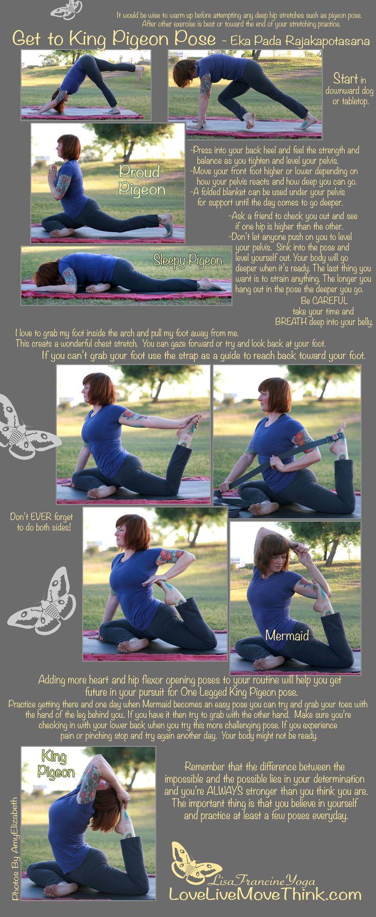 #Yoga - Get to king pigeon pose