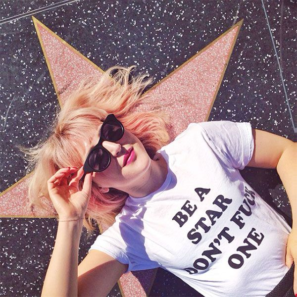 The 30 Most Instagrammed L.A. Landmarks #refinery29  http://www.refinery29.com/popular-los-angeles-landmark-photos#slide-9  Hollywood Walk Of Fame R29 Executive Creative Director Piera Gelardi brings her unique sense of style to everything that she does — even a classic Hollywood Walk of Fame pic. Hollywood Walk of Fame, Hollywood Boulevard (between La Brea Avenue and Gower Street); 323-469-8311.