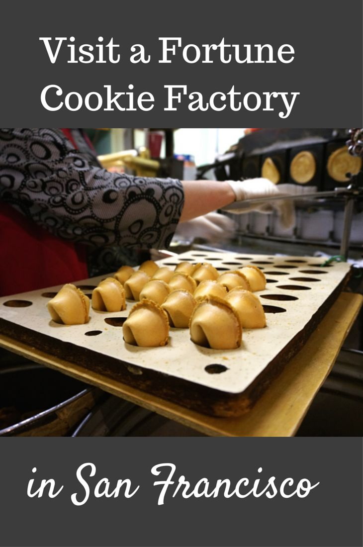 Have fortune cookies made with custom fortunes in a fortune cookie factory in San Francisco's Chinatown neighborhood. Off-beat San Francisco things to do-- plus bring home a souvenir from your travels!