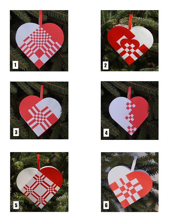Woven Danish Heart Basket Scandinavian Christmas Ornament Scandinavian Christmas Ornaments Frugal Christmas Christmas Hearts
