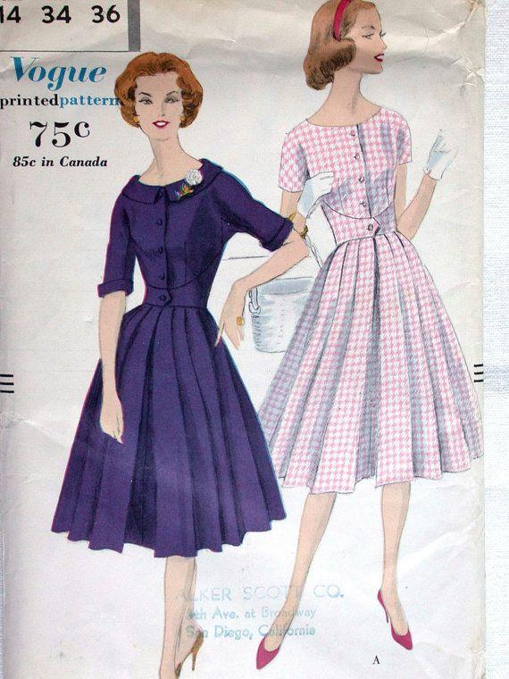 .....almost a walk away dress!  Vogue Dress Pattern No 9752 UNCUT Vintage by CaliforniaSunset, $15.00