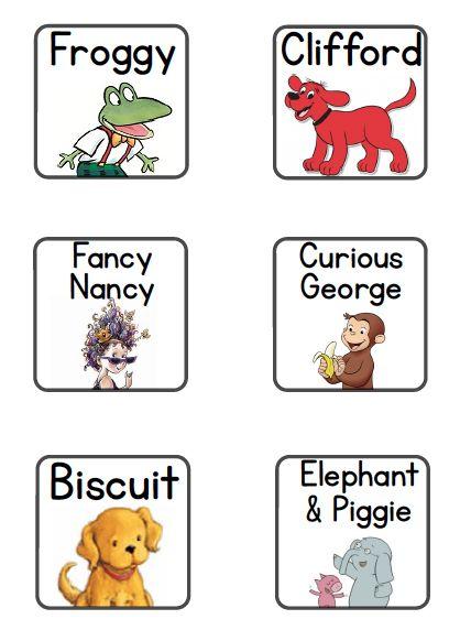 A Place Called Kindergarten: new book bin labels
