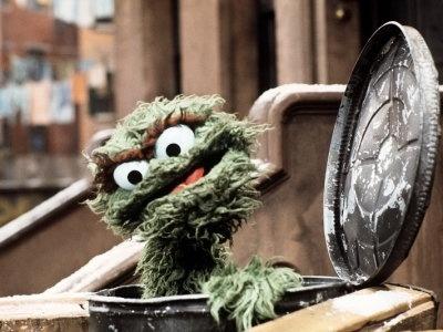 Immer geliebt: Oskar in der Mülltonne