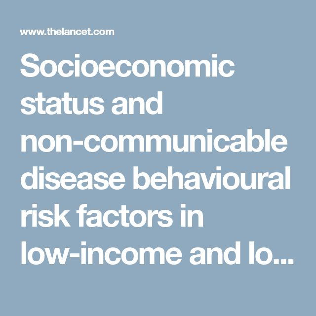 Socioeconomic status and non-communicable disease behavioural risk factors in low-income and lower-middle-income countries: a systematic review - The Lancet Global Health