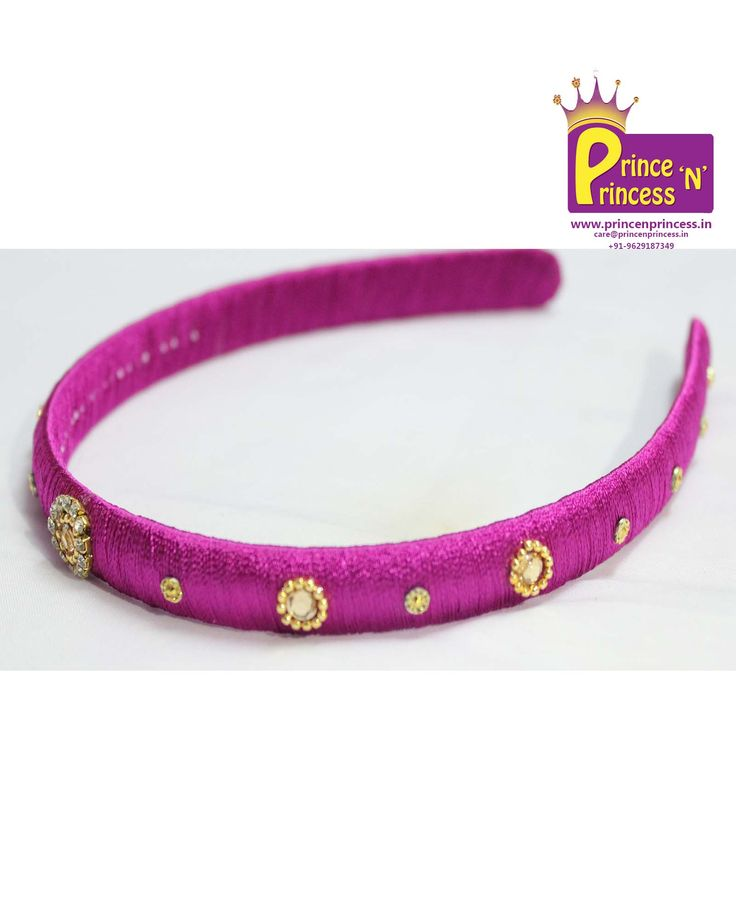kids silk thread hair band from prince n princess