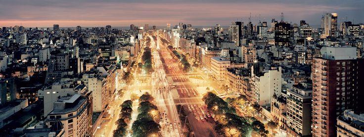 Navigate your way across the world's widest road, Avenida 9 de Julio, in Buenos Aires.