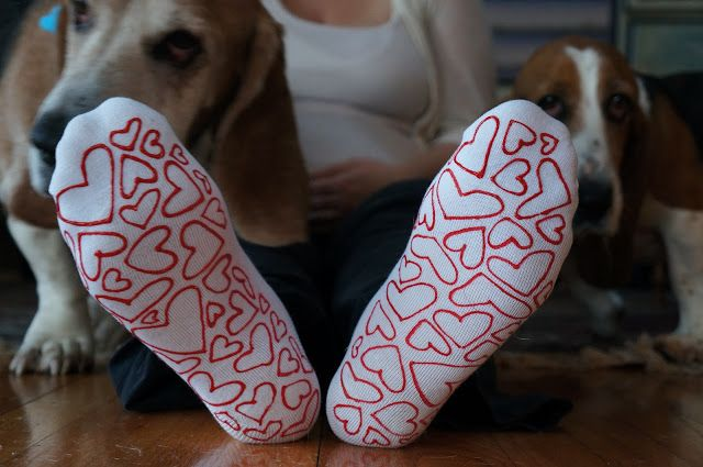 DIY homemade no-slip socks | Roadkill Rescue @Alison Hostetler (for riley!)
