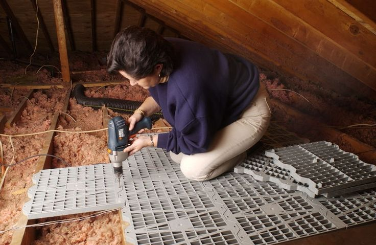 Install flooring in your attic so that you can utilize the space in your attic for storage.