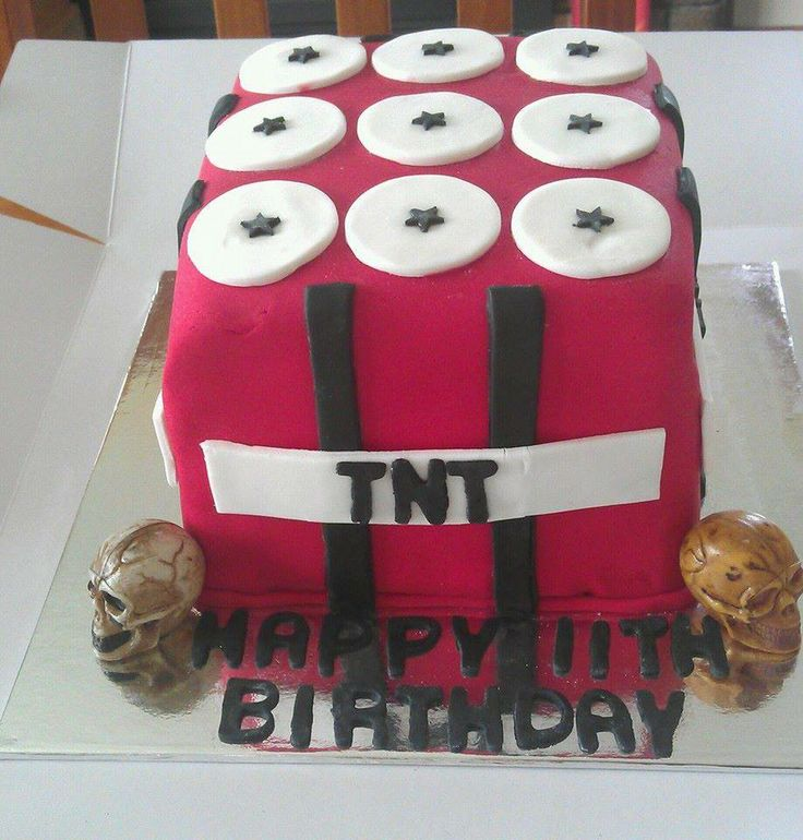 Chocolate TNT Birthday Cake  For more cool cakes and party ideas check out www.facebook.com/totaleventplanning