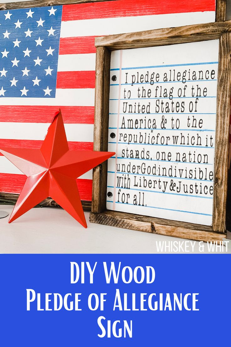 Pin On America 4th Of July Patriotic Projects What Doe Mean Pledge Allegiance To Me Republic In Justice The