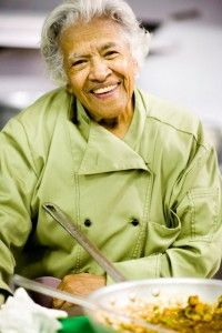 Leah Chase, the Queen of Creole Cuisine, and the owner of Dookie Chase Restaurant.