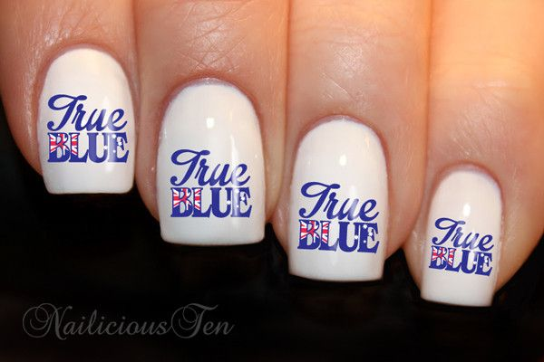 You will receive: 21pcs True Blue Aussie Flag Designs on clear water transfer. These funky decals can be applied over any colour varnish on either your natural or false nail. Easy to apply & full inst
