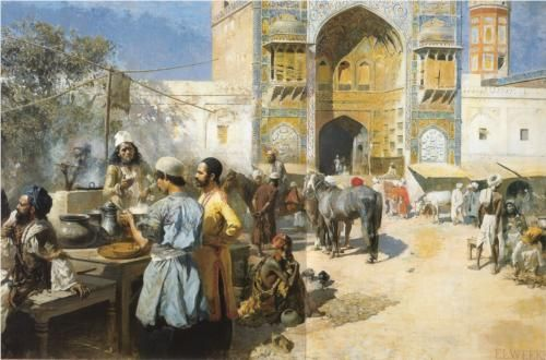 An Open Air Restaurant, Lahore - Edwin Lord Weeks