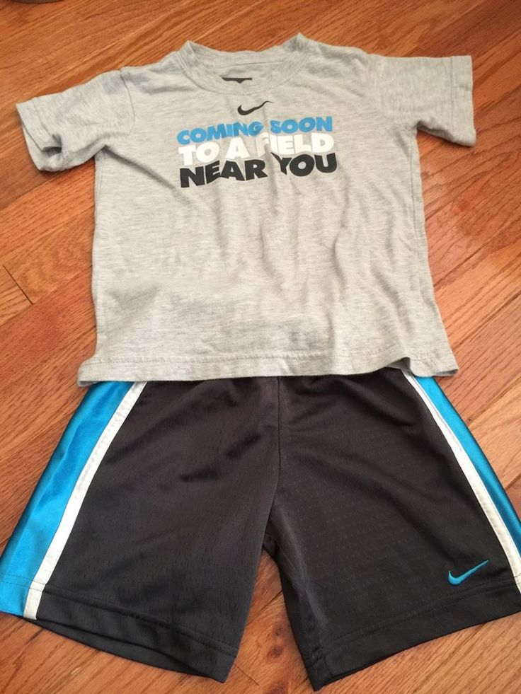 toddler boys size 4t #nike shorts and t-shirt outfit nice top and shorts euc   from $1499