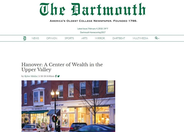 Impact of Dartmouth on Economy of Hanover and Surrounding Towns