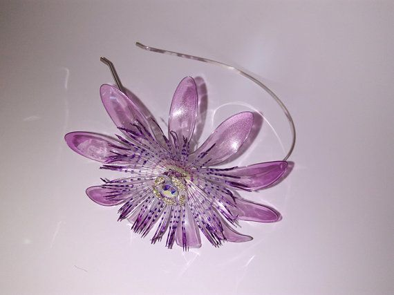 Passion Flower Jewelry Headband Resin Accessorie Woman Flower Jewelry Kanzashi Bridal Floral Hairpiece Swaro Flower Jewellery Handmade Headbands Purple Flowers