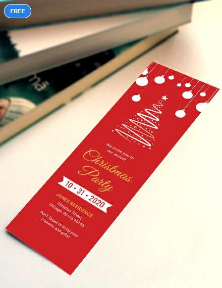 A Holiday Themed Bookmark Template That You Can Download For Free Craft Your Own Christmas