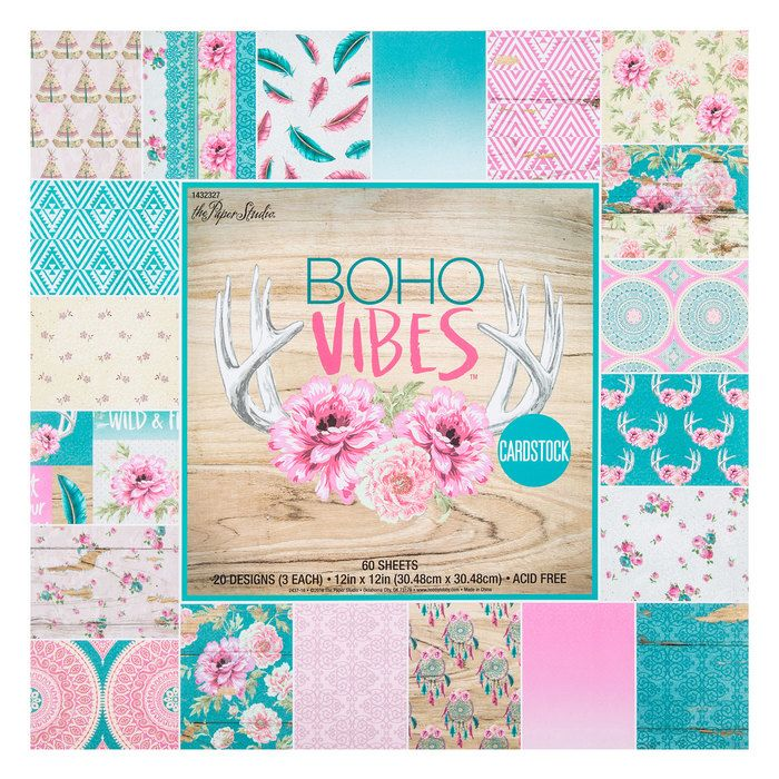 Boho Vibes Cardstock Paper Pack 12 X 12 Hobby Lobby 1432327 Scrapbook Paper Crafts Cardstock Paper 12x12 Scrapbook Paper