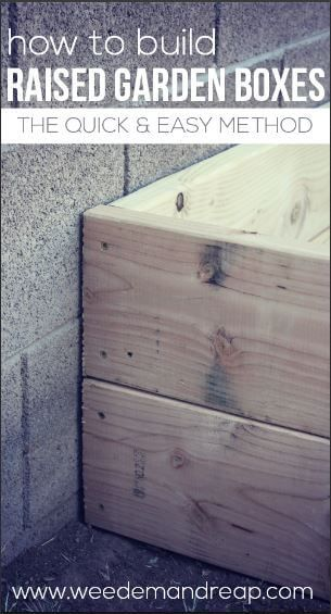 How to Build Raised Garden Boxes - After we decided on the best material , we decided we needed to figure out how to build our raised garden boxes. Some of the reasons why we decided to