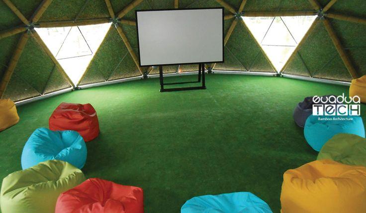 Classroom dome. Bamboo architecture