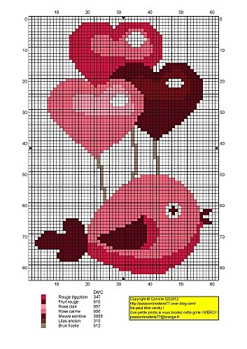 Cross stitch *♥* Point de croix Valentine