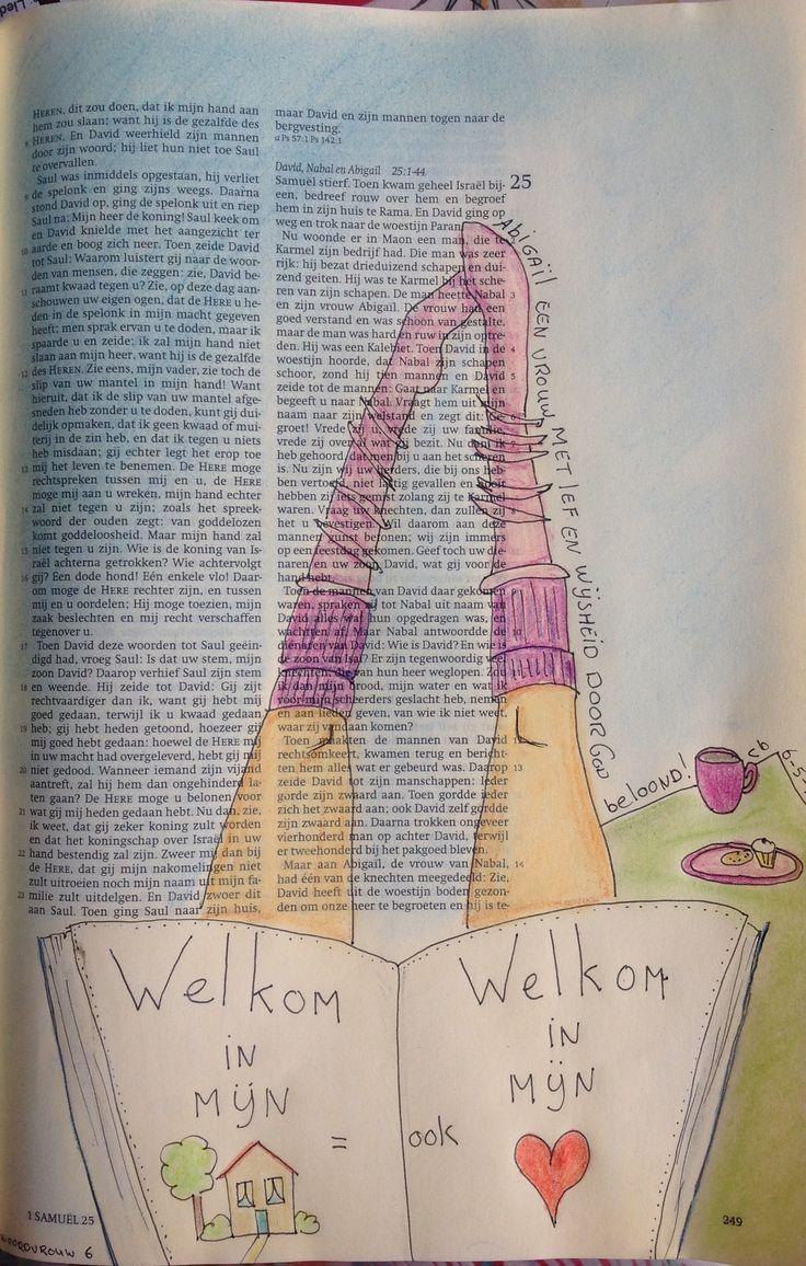 # woordvrouw challenge dag 6 Abigail een vrouw met lef en wijsheid. 1 Samuel 25 C van den Berg Gouda