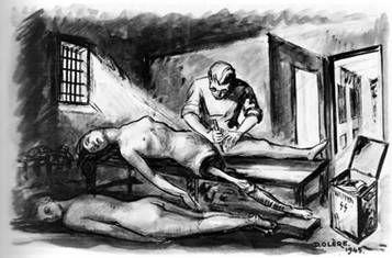 dessin David Olère dépeçage K II Auschwitz Birkenau